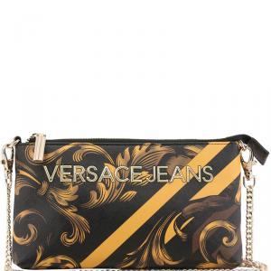 Versace Jeans Multicolor Print Leather Chain Pochette Accessories