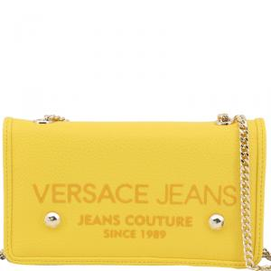 Versace Jeans Yellow Synthetic Leather Clutch Bag