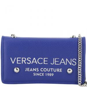 Versace Jeans Blue Synthetic Leather Clutch Bag