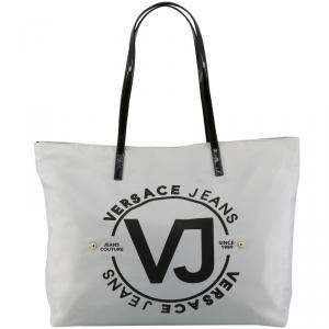 Versace Jeans Gray Synthetic Leather Shopping Tote Bag