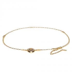Versace Yellow Gold Tone Medusa Charm Chain Link Belt