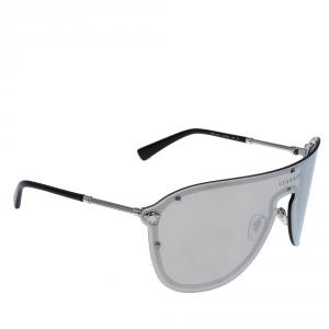 Versace Silver Mirror MOD.2180 Shield Sunglasses