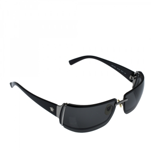 Versace Black Medusa Icon Embedded/ Grey Mod.2027 Rimless Sunglasses