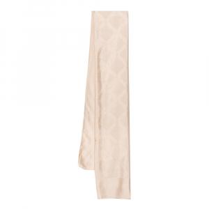 Versace Cream Greca Patterned Silk Scarf