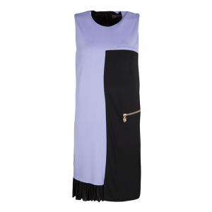 Versace Colorblock Ruffle Bottom Hem Detail Sleeveless Dress S - used