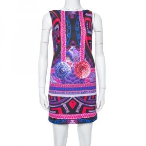 Versace Purple Medusa Print Jersey Shift Dress S - used