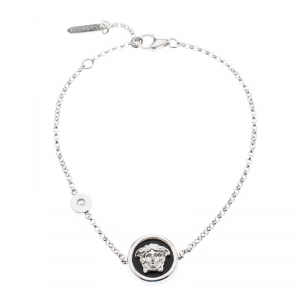 Versace Medusa Diamond 18k White Gold Bracelet