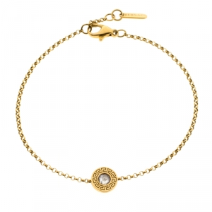 Versace Diamond 18k Yellow Gold Soft Bracelet
