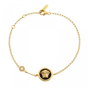 Versace Medusa Diamond 18k Yellow Gold Soft Charm Bracelet