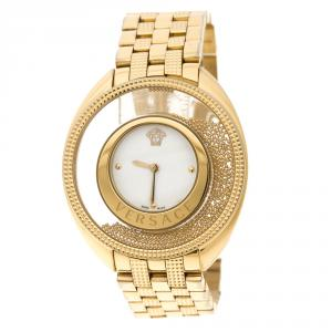 Versace Gold Stainless Steel Destiny Spirit 86Q Women's Wristwatch 39 mm