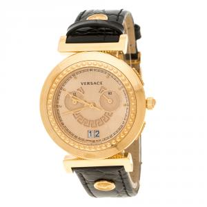 Versace Rose Gold Plated Steel A9C Chronograph Women's Wristwatch 40 mm
