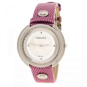 Versace White Mother of Pearl Stainless Steel Thea A7Q Women's Wristwatch 39 mm