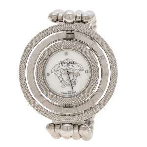 Versace Mother of Pearl Stainless Steel Eon 80Q Women's Wristwatch 39 mm