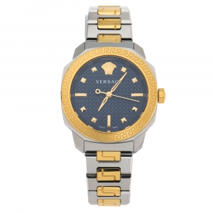 Versace Blue Two-Tone Stainless Steel Dylos VQD140016 Women's Wriswatch 35 mm
