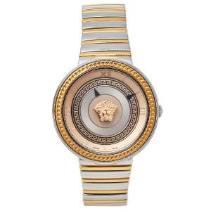 ساعة يد نسائية فيرساتشي في - معدن أيقون في أل سي080014 ستانلس ستيل لونين بيج فاتح 40 مم