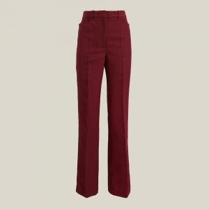 Victoria Beckham Red Straight-Leg Wool-Blend Trousers UK 16