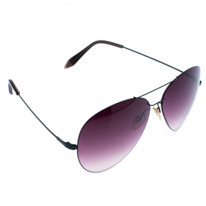 Victoria Bekham Green/Dark Purple Gradient Aviator Sunglasses