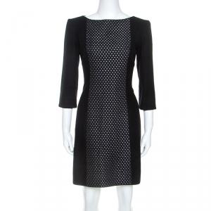 Victoria Beckham Black Knit Paneled Sheath Dress M - used