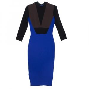 Victoria Beckham Color Block Crepe Sheath Dress S - used