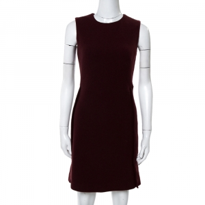 Victoria Beckham Burgundy Wool Sleeveless Dress S - used