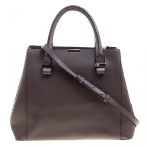 Victoria Beckham Dark Grey Leather Quincy Tote