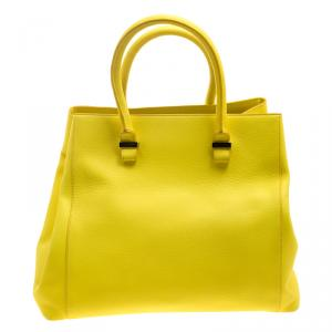 Victoria Beckham Yellow Leather Quincy Tote