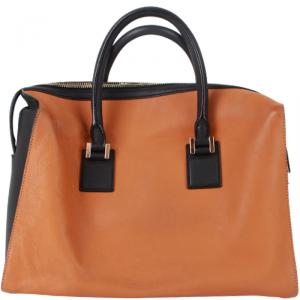 Victoria Beckham Two Tone Leather Satchel Bag