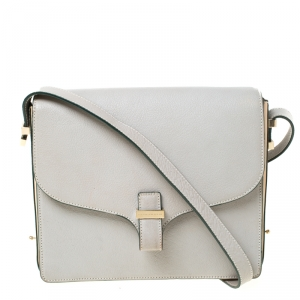 Victoria Beckham Grey Leather Shoulder Bag