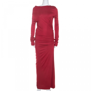 Vivienne Westwood Anglomania Brick Red Jersey Ruching Detail Taxa Dress M