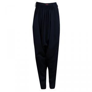 Vivienne Westwood Red Label Navy Blue Wool Relaxed Waist Harem Trousers M