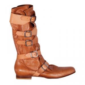 Vivienne Westwood Camel Leather Boots Size 41