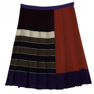 Weekend Max Mara Striped Pleated Skirt L