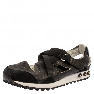 Y-3 Black Suede And Leather Strappy Velcro Sandal Sneakers Size 42 - used
