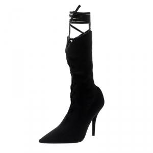 Yeezy Season 5 Black Knit Sock Lace Up Boots Size 39.5