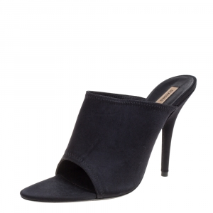 Yeezy Black Stretch Knit Season 6 Mule Sandals Size 41