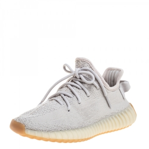 Yeezy x Adidas Sesame Cotton Knit Boost 350 V2 Sneakers Size 38