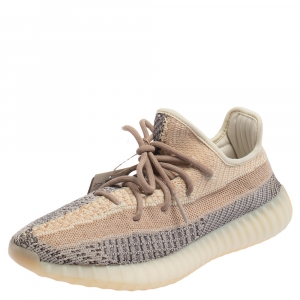 Adidas x Yeezy Two Tone Cotton Knit Boost 350 V2 Ash Pearl Sneakers Size 41 1/3