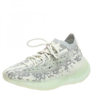 Yeezy x adidas Grey/White Cotton Knit Boost 380 Alien Sneakers Size 38