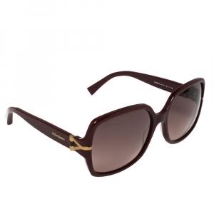 نظارة شمسية أيف سان لوران مربعة واي أس أل6307/أس عنابي/ بوردو