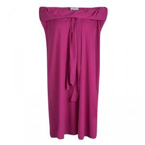 Yves Saint Laurent Pink Knit Off Shoulder Sleeveless Shift Dress S - used
