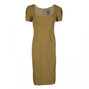 Zac Posen Khaki Brown Short Sleeve Dress M