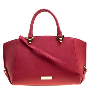 Zac Zac Pozen Red Leather Tote