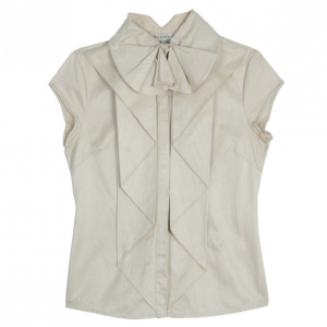 Zac Posen Ruffle Short Sleeve Top M