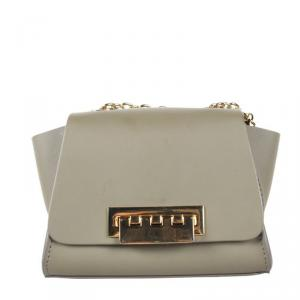 Zac Posen Gray Eartha Leather Mini Crossbody Bag