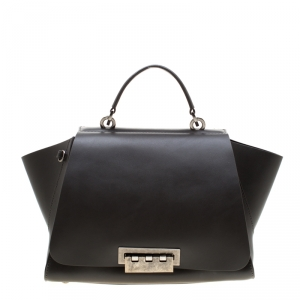 Zac Posen Grey Leather Eartha Iconic Core Top Handle Bag