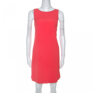Zadig & Voltaire Deluxe Red Crepe Open Back Raff Shift Dress XS