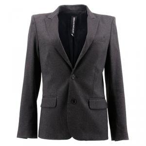 Zadig & Voltaire Grey Tweed Blazer M