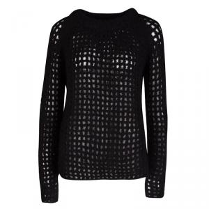 Zadig and Voltaire Deluxe Chunky Perforated Knit Massimo Hook Sweater M