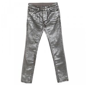 Zadig and Voltaire Silver Foil Printed Denim Eva Argent Deluxe Jeans M