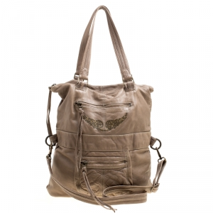 Zadig And Voltaire Khaki Brown Leather Satchel